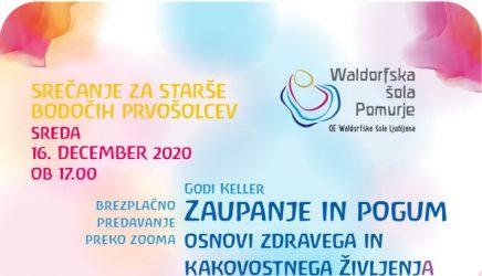 Waldorfska šola Pomurjebrezplačno ZOOM predavanje20. januar ob 17.30 uri